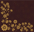 Floral frame in russian traditional style (vector) Stock Photo