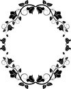 Floral frame silhouette of vector illustration Stock Image