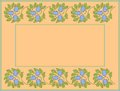 Floral frame with space for text or photo Royalty Free Stock Image