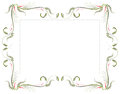 Floral frame unique frameborder design illustration Royalty Free Stock Image