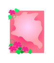 Floral frame vector illustration element for design Stock Photos