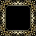 Floral frame vintage background this is file of eps format Royalty Free Stock Photo