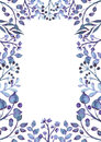 Floral Frame With Watercolor D...