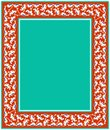 Floral frame for your design. Traditional Turkish � Ottoman ornament. Iznik.