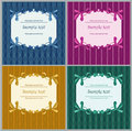 Floral frames blue lilac green and yellow Royalty Free Stock Photography