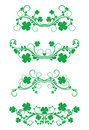 Floral frames with clover Royalty Free Stock Photo