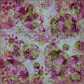 Floral Frenzy Shabby Background Royalty Free Stock Photography
