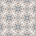 Floral geometric pattern, contemporary style Stock Photo