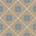 Floral geometric pattern, contemporary style Royalty Free Stock Photos