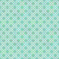 Floral geometrical pattern in greenish colors seamless Royalty Free Stock Photo