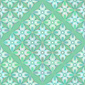Floral geometrical pattern in greenish colors seamless Royalty Free Stock Image