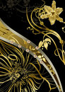Floral gold abstraction Royalty Free Stock Photo
