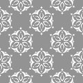 Floral gray seamless pattern. Background with fower elements for wallpapers