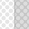 Floral gray and white seamless pattern. Background with fower elements for wallpapers