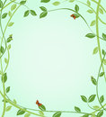 Floral green background with butterflies on leaves vector vegetation eps Royalty Free Stock Image