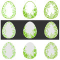 Floral green easter egg Royalty Free Stock Photo