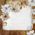 Floral greeting card with place for your text. Stock Photos