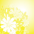 Floral grunge background yellow eps Stock Images