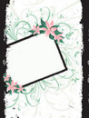 Floral grunge border Stock Photo