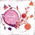 Floral grunge frame series Royalty Free Stock Photo