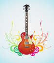 Floral guitar Royalty Free Stock Photos