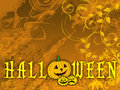 Floral Halloween background Royalty Free Stock Image