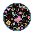 Floral hand drawn colorful pattern Stock Photo