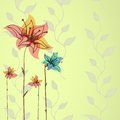 Floral hand drawn vector background this is file of eps format Stock Photos