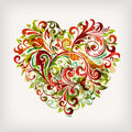 Floral heart Royalty Free Stock Images