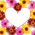 Floral heart frame Stock Photo
