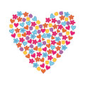 Floral heart isolate Royalty Free Stock Photos