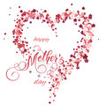 Floral heart and Mothers Day Lettering. Spring holidays