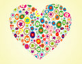 Floral heart shape Royalty Free Stock Photography