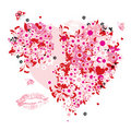 Floral heart shape Royalty Free Stock Images