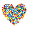 Floral heart shape design Stock Photography