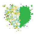 Floral heart shape for your design Stock Image