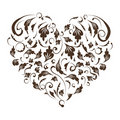 Floral heart shape for your design Stock Photos