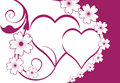 Floral Hearts Background