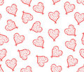 Floral hearts seamless (tiled) background Stock Image