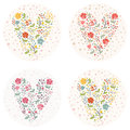Floral hearts Royalty Free Stock Photo