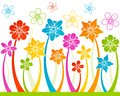 Floral horizontal seamless background Stock Image