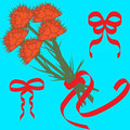 Floral illustration with bouquet of carnations