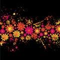 Floral ink splat Royalty Free Stock Photo