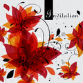 Floral invitation card vector illustration background Royalty Free Stock Photos