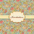 Floral invitation card vector illustration of colorful or place your text Stock Image