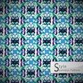 Floral lattice gradient vintage geometric seamless pattern vecto