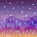 Floral line on purple light background vector Royalty Free Stock Photo