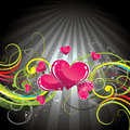 Floral love heart background Royalty Free Stock Photo