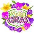 Floral Mardi Gras Blazon