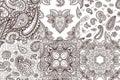 Floral mehendi pattern ornament vector illustration hand drawn henna mhendi pattern india tribal paisley background